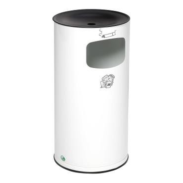 Abfallbehälter mit Ascher, 44L in 6 Farben