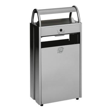 Abfallbehälter mit Ascher, 60L/9L in 5 Farben – Bild 1