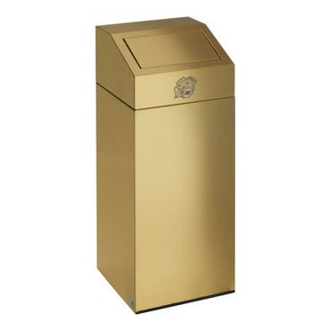 Abfallsammler aus Messing-Blech, inkl. Inneneinsatz , 45L