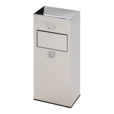 Abfallbehälter mit Ascher aus Edelstahl, 21L/2L