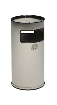 Abfallbehälter mit Ascher aus Edelstahl, 38L – Bild 2