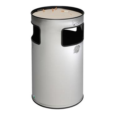 Abfallbehälter mit Ascher aus Edelstahl, 70L – Bild 1