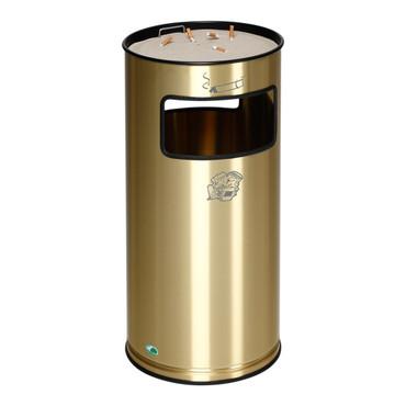 Abfallbehälter mit Ascher aus Messing, 38L – Bild 1