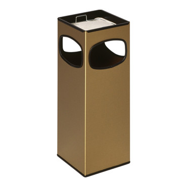 Abfallbehälter mit Ascher aus Messing, 29L – Bild 1