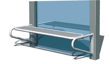 Parkbank TUNIS aus Drahtgitter für Wetterschutzanlagen WSA ohne Rückenlehne in mehreren Farben – Bild 1
