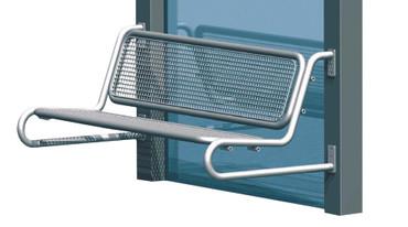 Parkbank TUNIS aus Drahtgitter für Wetterschutzanlagen WSA mit Rückenlehne in mehreren Farben – Bild 1