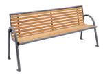 Sitzbank KAIRO aus Holz mit Rückenlehne in mehreren Ausführungen