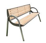 Parkbank PRAG aus Holz mit Rückenlehne in mehreren Farben 001