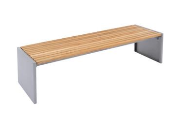 Parkbank MONACO aus Holz ohne Rückenlehne in mehreren Farben