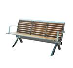 Parkbank MANILA aus Edelstahl und Holz mit Rückenlehne 001
