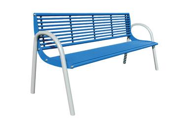 Parkbank PRAG aus Stahl mit Rückenlehne in mehreren Ausführungen – Bild 1