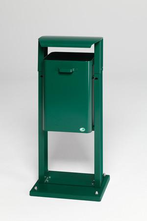 Abfallbehälter mit Dach in mehreren Ausführungen, 40L – Bild 4