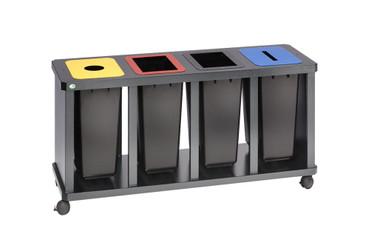 Wertstoff-Sammelstation mit 3 oder 4 Kunststoffbehälter – Bild 1