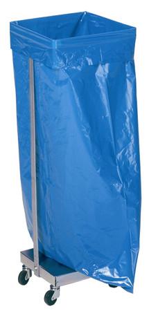 Abfallsammler für 120L Säcke, verzinkt - stationäre oder fahrbare Ausführung – Bild 1