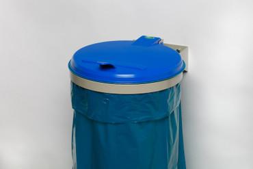 Müllsackhalterung für die Wand mit Kunststoffdeckel in 3 Farben – Bild 2