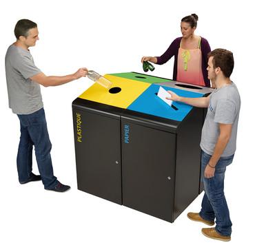 Abfallbehälter für Abfalltrennung, Mülltrennsystem 120L, Individuelle Gestaltung – Bild 2