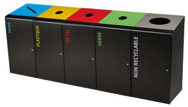 Abfallbehälter für Abfalltrennung, Mülltrennsystem 120L, Individuelle Gestaltung – Bild 1