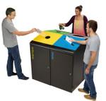 Abfallbehälter für Abfalltrennung, Mülltrennsystem 120L, Individuelle Gestaltung 001