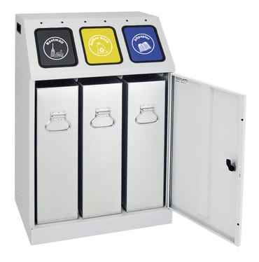 Wertstoffsammler Triplex inkl. Innenbehälter, 3x30 Liter – Bild 2
