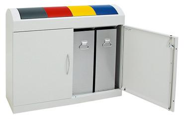 Wertstoffsammler 4-fach, inkl. Innenbehälter, 4x45L – Bild 4
