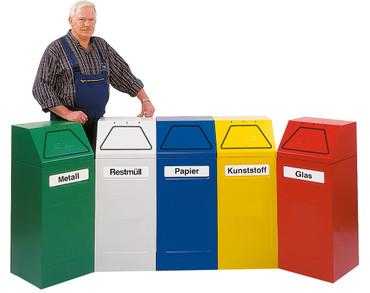 Selbstlöschende Abfallbehälter inkl. Innenbehälter, 65L in mehreren Farben – Bild 1
