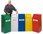 Selbstlöschende Abfallbehälter inkl. Innenbehälter, 65L in mehreren Farben