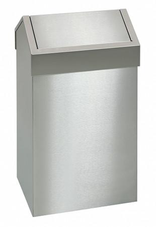 Abfallbehälter aus Edelstahl mit Pendeldeckel in 3 Größen – Bild 1