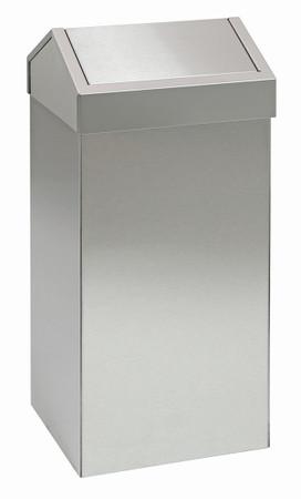 Abfallbehälter aus Edelstahl mit Pendeldeckel in 3 Größen – Bild 6