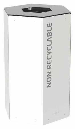 Abfalltrennbehälter, Wertstoffsammler mit oder ohne Schloss 50L, Individuelle Gestaltung – Bild 3