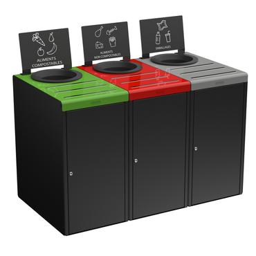 Abfalltrennbehälter, Wertstoffsammler in verschiedenen Größen und Farben – Bild 1