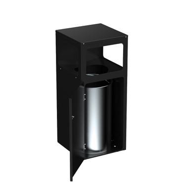 Abfallbehälter mit Schloss und Innenbehälter, 40L – Bild 1