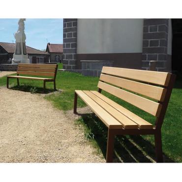 Sitzbank BERLIN aus Holz mit Rückenlehne in mehreren Ausführungen – Bild 2