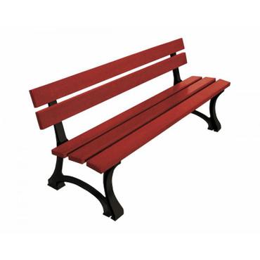 Sitzbank MALE aus Holz mit Rückenlehne – Bild 5