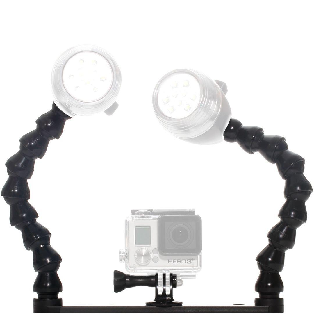 Action Camera Tray mit Gopro Stativadapter & Flexarm – Bild 2