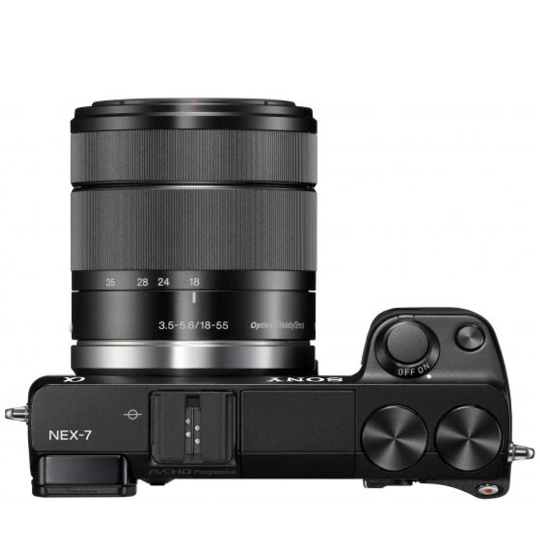 Sony NEX-7KB Systemkamera (24 Megapixel, 7,5 cm (3 Zoll) Display, Full HD Video) Kit inkl. 18-55mm Objektiv – Bild 6