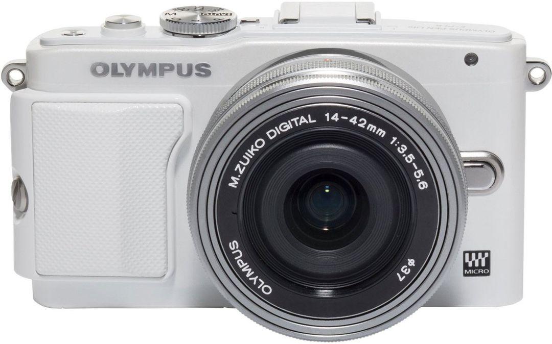 Olympus E-PL6 14-42 Pancake Expression Kit (weiß/silber)