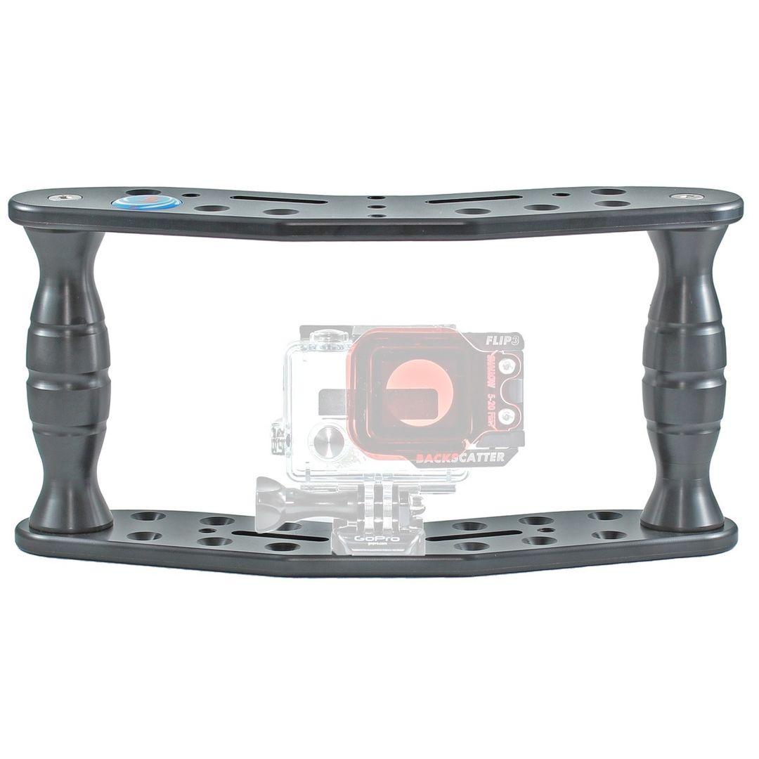 Hydronalin Tauchstativ Doppeldecker HD 43 für GoPro, ActionPro X7, Rollei – Bild 2