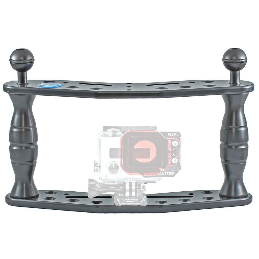 Hydronalin Tauchstativ Doppeldecker HD 43 für GoPro, ActionPro X7, Rollei – Bild 3