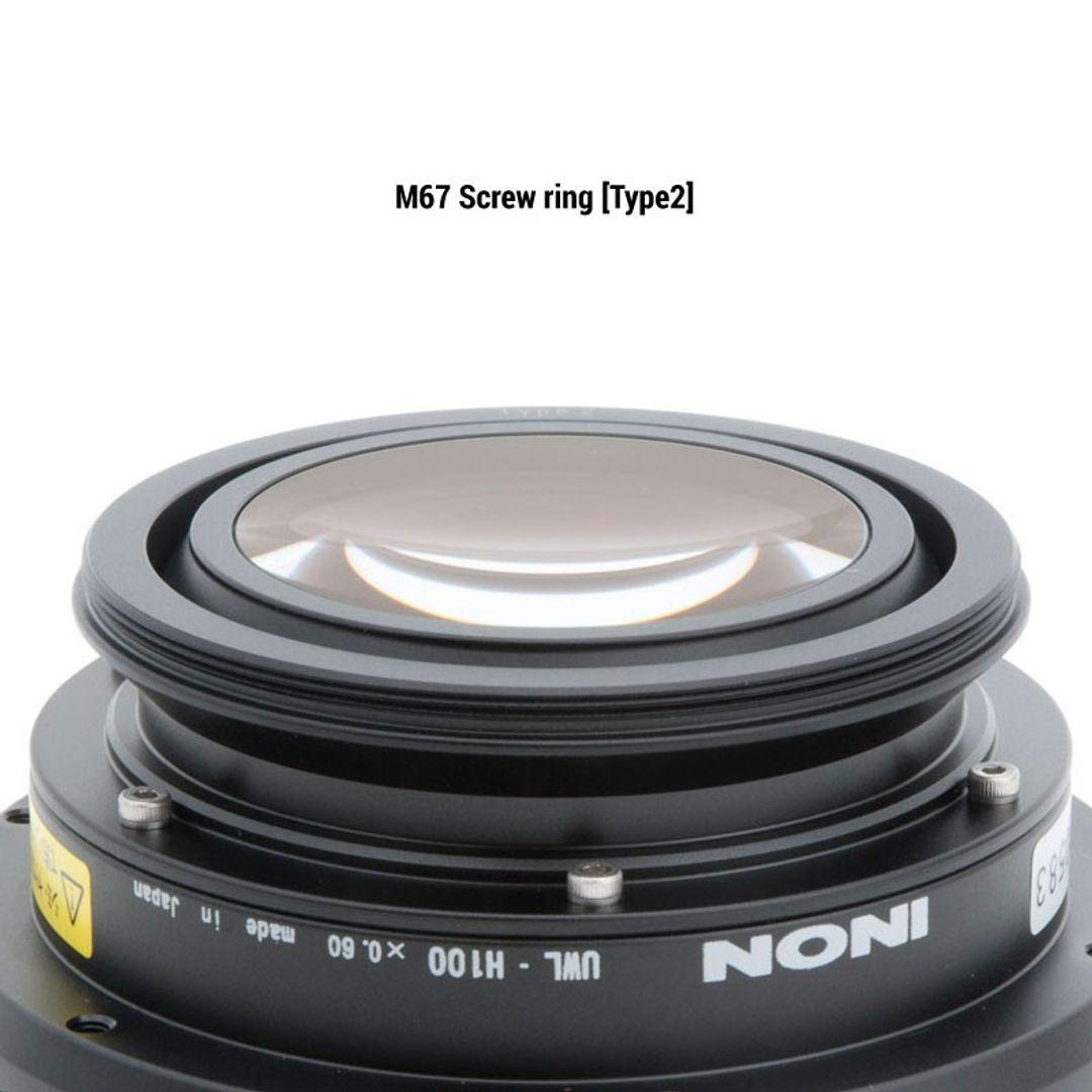 Set: INON UWL-H100 28M67 mit Sonnenblende & Neoprentasche – Bild 5