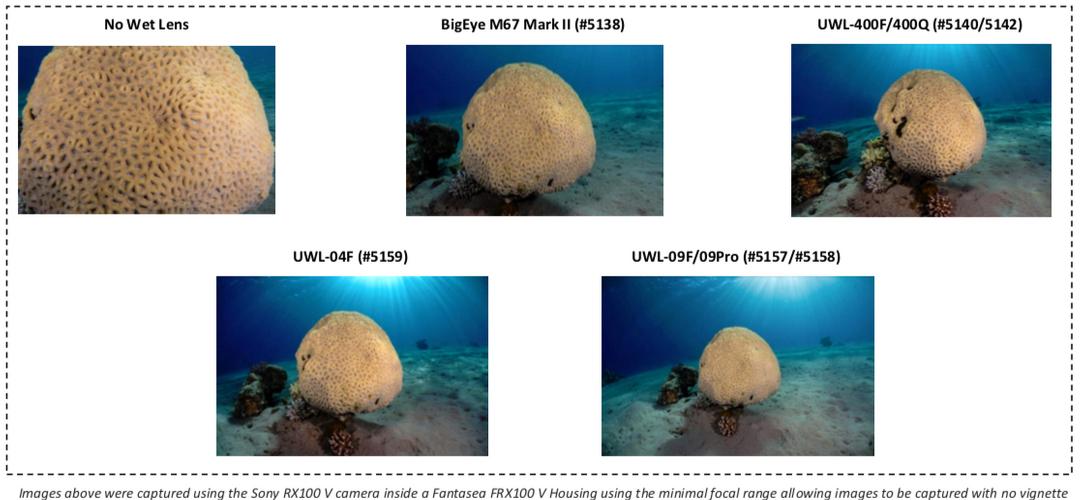 Fantasea AOI UWL 400Q 5142 M52 0.5x 24mm 100m Wide Angle Lens Weitwinkel Optik – Bild 2