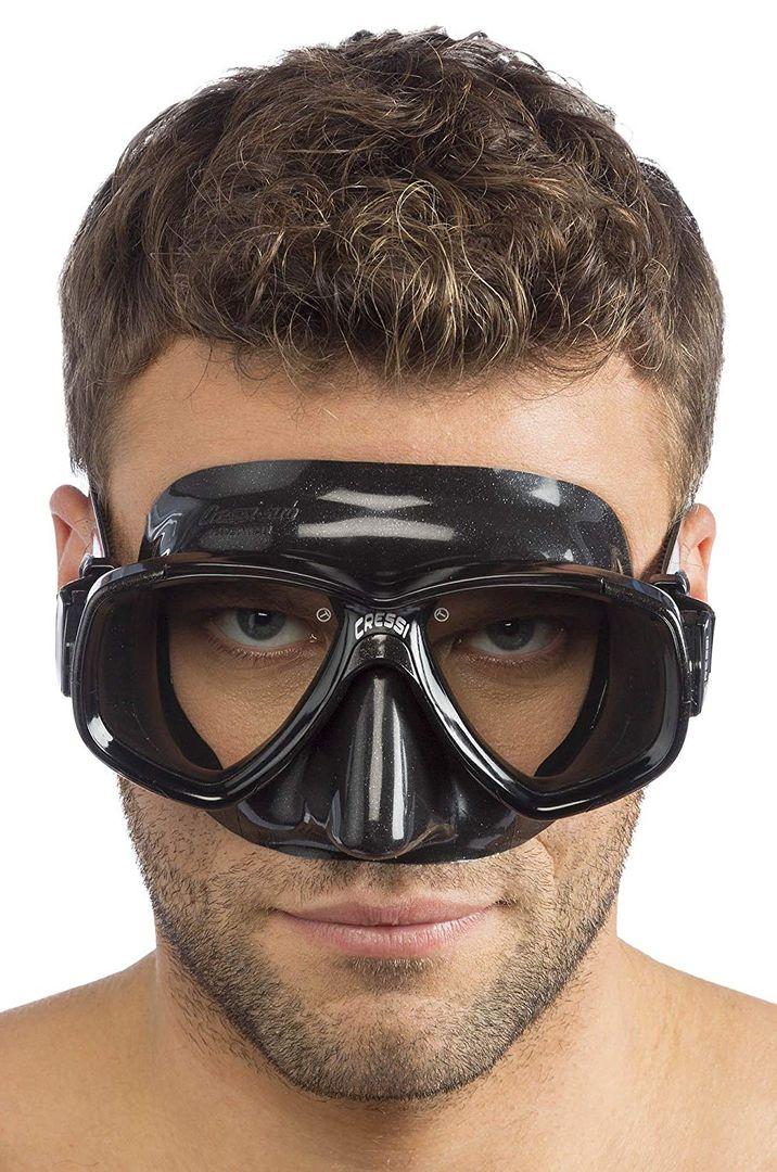 Cressi Perla Taucherbrille Schwarz - Tauchermaske Tauchmaske – Bild 2