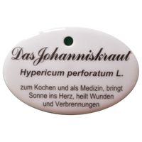 Porzellanschild Johanniskraut