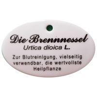 Porzellanschild Brennnessel