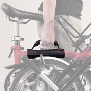 Leder Tragegriff Für Brompton Fahrrad Rahmen Tragen Hellbraun