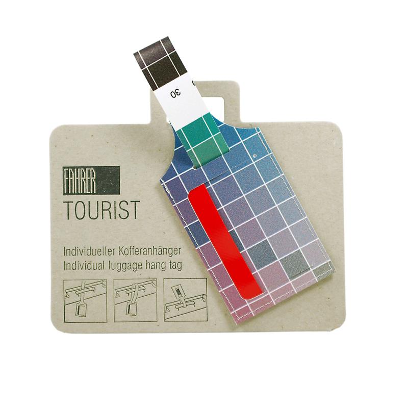 TOURIST - Kofferanhänger bunt gemischt