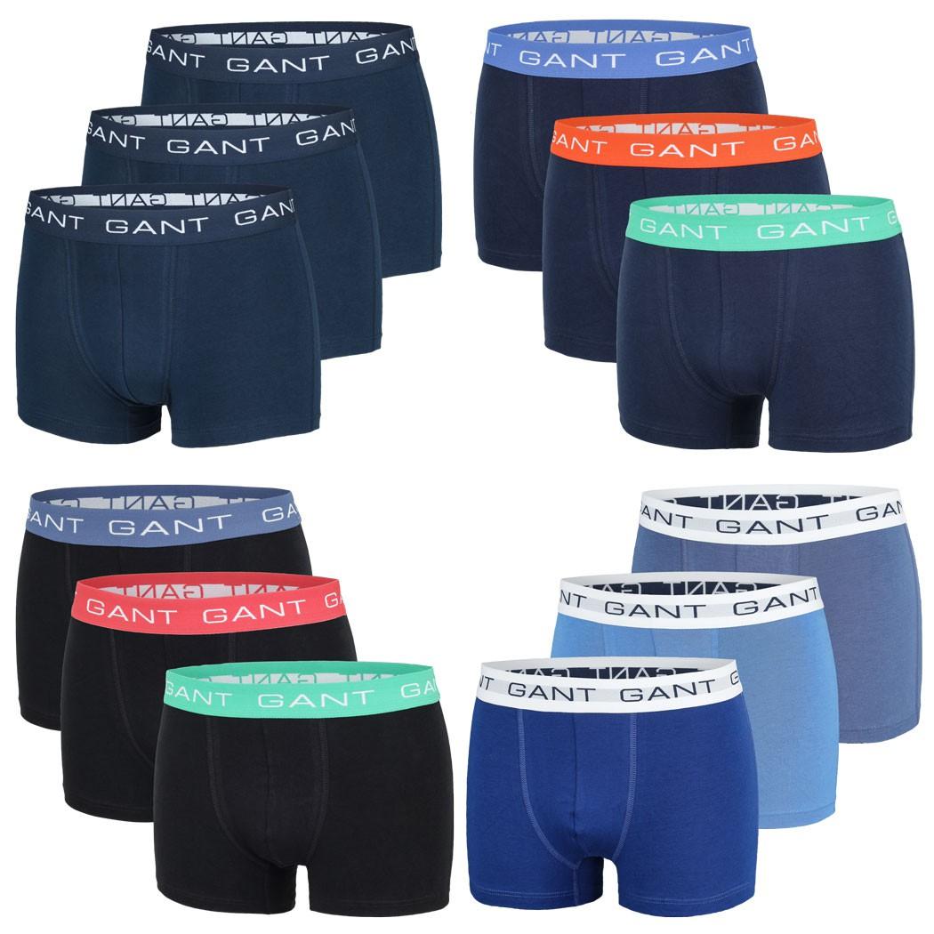 3er Pack GANT Herren Boxershorts, Short Boxer, Trunks, Unterhosen, Neu, Navy – Bild 1