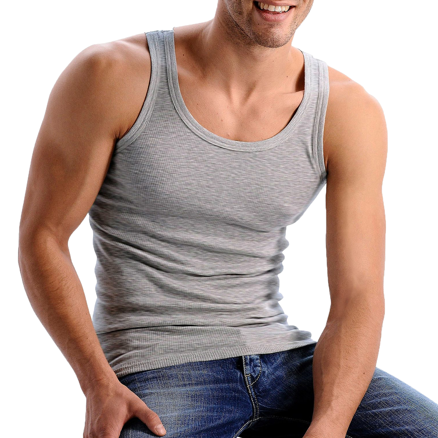 3er Pack HIS Herren Tank Tops, – Bild 5