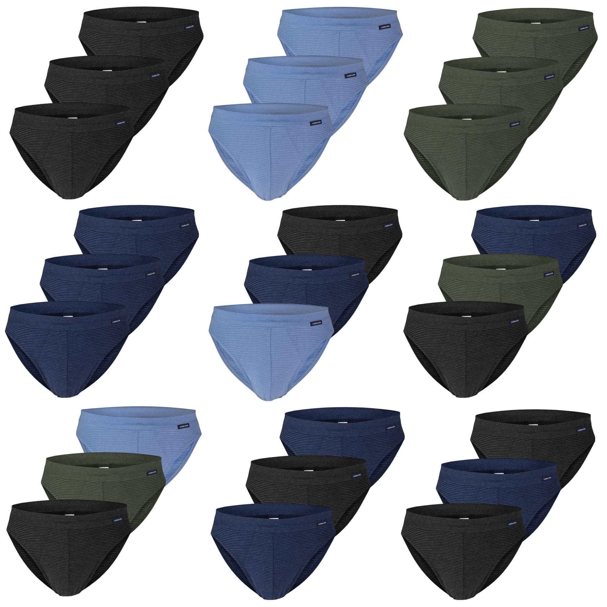 3  Ammann Slips ohne Eingriff, Unterhosen, verschiedene Farben – Bild 1