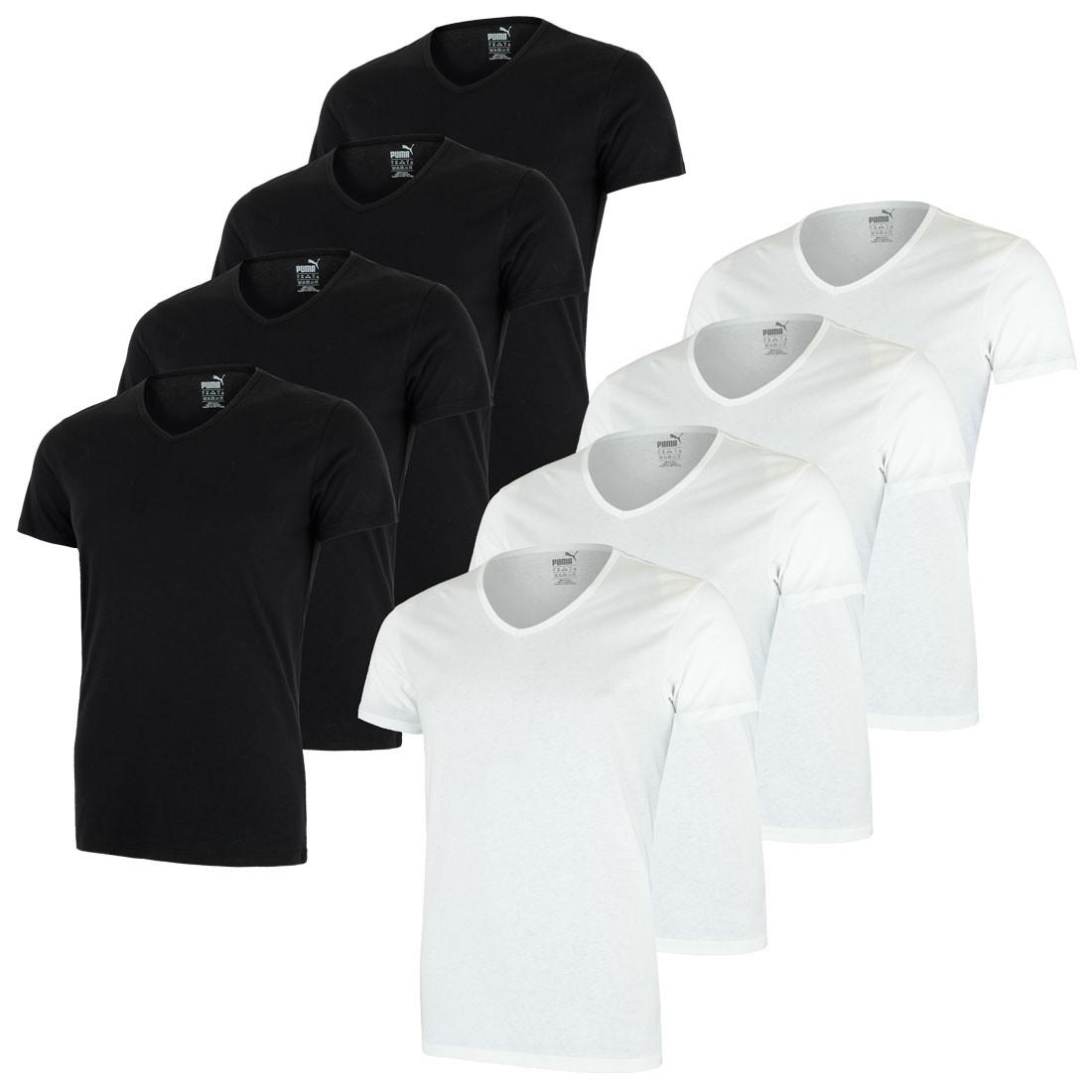4er - Pack PUMA Herren T-Shirt Unterhemden, V-Ausschnitt – Bild 1