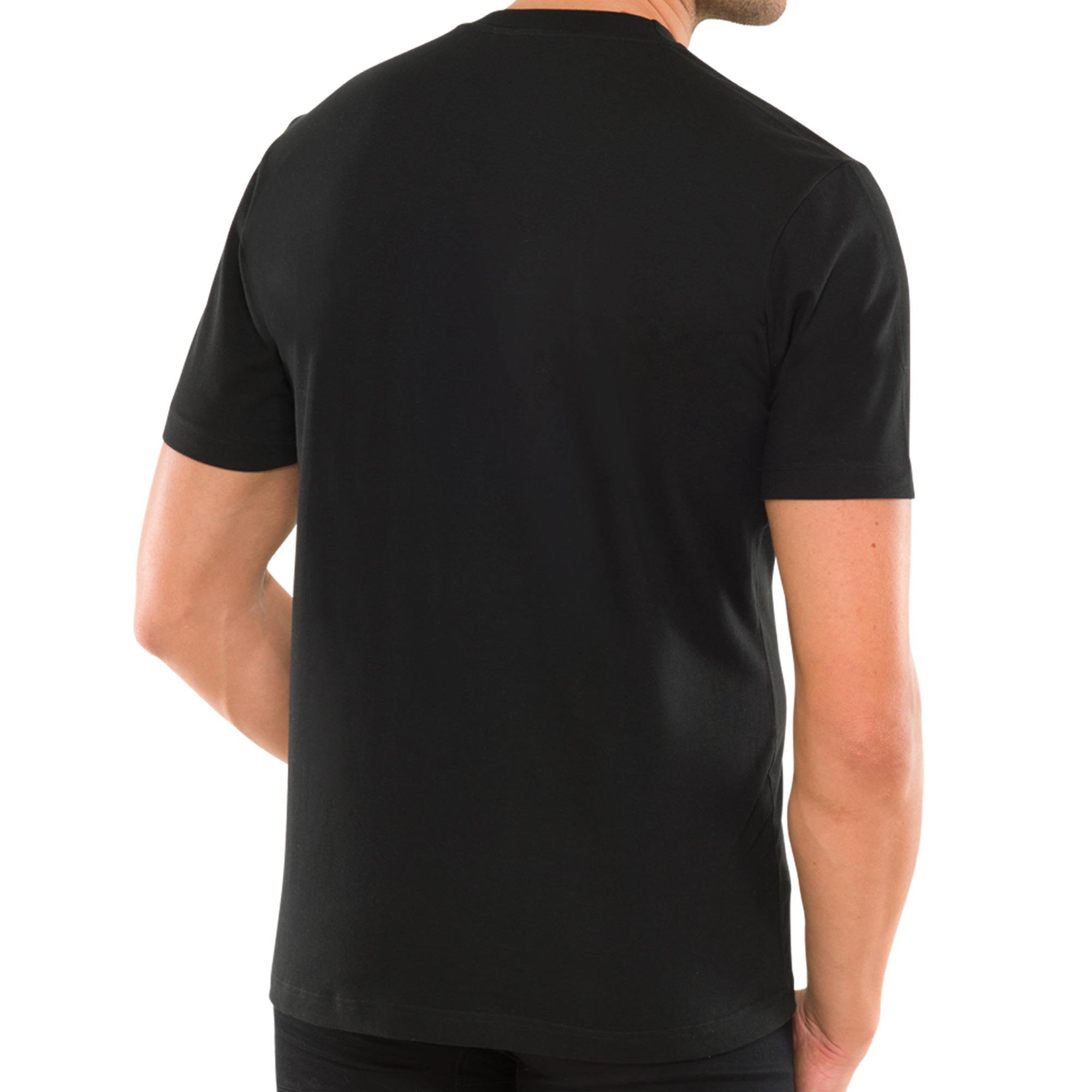 2er Pack Schiesser Herren American T- Shirts mit Rundhals, 100% Baumwolle, Neu – Bild 6